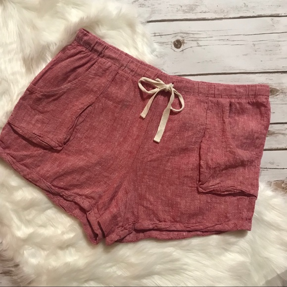 Anthropologie Pants - Anthropologie Mermaid Linen casual Shorts Size L